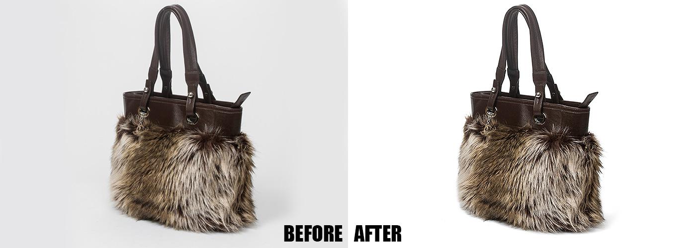Product Photo Editing Fur Bag